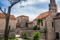 古老建筑学在黑山 图库摄影