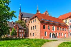 古老建筑学在维斯马,德国 库存照片