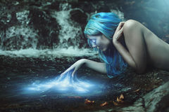 古老水魔术 库存图片