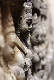古老angkor柬埔寨雕塑石头wat 免版税库存照片