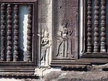 古老angkor艺术神印度石wat 库存图片