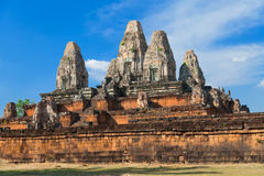 古老angkor banteay复杂kdei寺庙 免版税库存照片