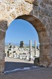 古老antalya希腊perge罗马城镇火鸡 免版税图库摄影