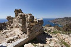 古老Antiochia广告位于山的Cragum废墟临近g 免版税库存照片