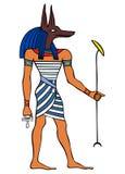 古老anubis埃及神 库存例证