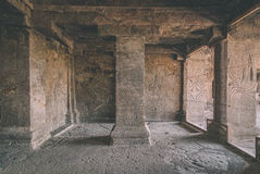 26 27古老aurangabad在编号赢得不可变更的寺庙附近洞洞ellora山坡印度印度 免版税图库摄影