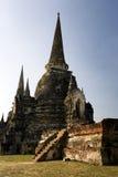古老ayuttaya塔寺庙泰国塔 库存照片