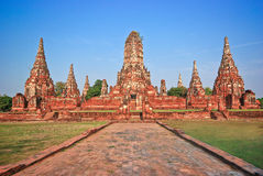 古老ayutthaya城市 图库摄影