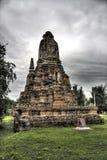 古老ayutthaya纪念碑 库存照片