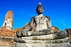 古老ayutthaya菩萨 库存照片