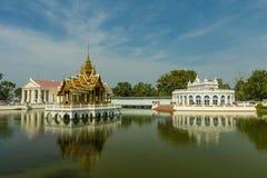 古老Bangpain宫殿,阿尤特拉利夫雷斯在泰国 免版税库存照片