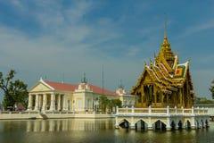 古老Bangpain王宫,阿尤特拉利夫雷斯在泰国 免版税库存图片