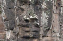 古老Bayon寺庙的表面在Angkor Wat的 库存图片