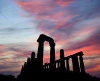 古老BC世纪希腊juno寺庙v vi 免版税库存图片