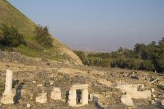 古老beit罗马被破坏的shean寺庙 免版税库存图片