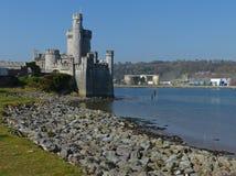 古老Blackrock城堡在黄柏城市郊外在爱尔兰 免版税库存图片