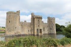古老Bodiam城堡在苏克塞斯英国英国 免版税库存图片