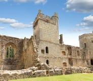 古老Bodiam城堡在苏克塞斯英国英国 免版税图库摄影