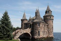 古老boldt城堡石头 库存照片