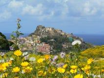 古老castelsardo撒丁岛城镇 免版税库存图片