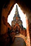 古老chaiwattanaram寺庙wat 免版税库存图片