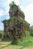 古老Champa的被破坏的寺庙 免版税图库摄影