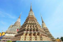 古老chedi塔pho泰国wat 免版税图库摄影
