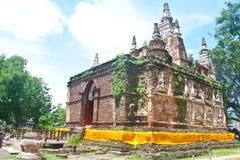 古老chiangmai jed寺庙泰国一团yod 免版税图库摄影