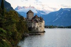 古老Chillon城堡 免版税图库摄影