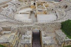 古老coloseum在塔拉贡纳 免版税图库摄影