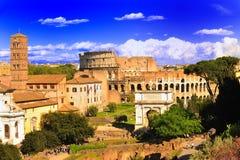 古老colosseo罗马顶视图 免版税库存照片