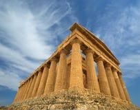 古老concordia希腊寺庙 图库摄影
