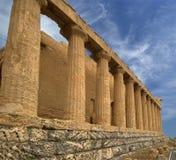 古老concordia希腊寺庙 库存图片