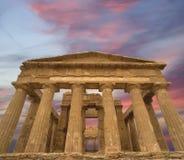 古老concordia希腊西西里岛寺庙 库存图片