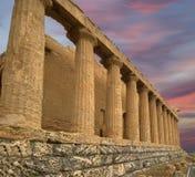 古老concordia希腊西西里岛寺庙 免版税库存照片