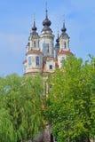 古老Cosmas和达米扬的寺庙在卡卢加州市,俄罗斯 免版税库存图片
