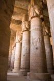 古老dendera埃及内部寺庙 免版税库存照片