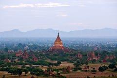 古老Dhammayazika塔在Bagan,缅甸 库存照片