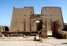 古老edfu埃及寺庙 免版税库存图片