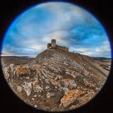 古色古香的堡垒废墟。 Enisala 库存图片