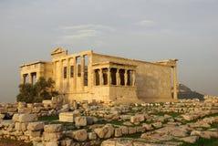 古老erehteion希腊寺庙 免版税库存图片
