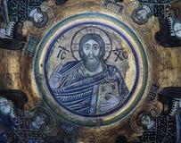 古老frescoe在圣徒索菲娅大教堂,基辅,乌克兰里 库存图片