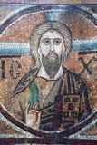 古老frescoe在圣徒索菲娅大教堂,基辅,乌克兰里 图库摄影