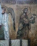 古老frescoe在圣徒索菲娅大教堂,基辅,乌克兰里 免版税库存图片