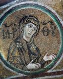 古老frescoe在圣徒索菲娅大教堂,基辅,乌克兰里 免版税库存照片
