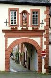 古老Graacher市门在Bernkastel-Kues 免版税图库摄影