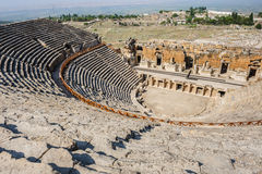 古老hierapolis剧院 库存照片