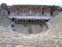 古老hierapolis剧院 免版税图库摄影