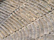 古老hierapolis剧院 免版税库存图片