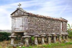 古老horreo (粮仓) 加利西亚,西班牙 免版税库存照片